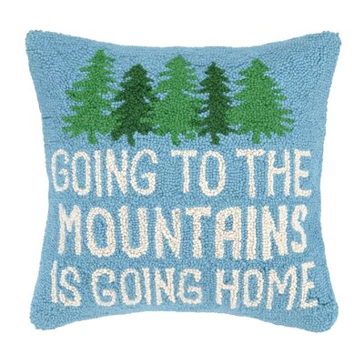 Cabin Life Hook Wool Throw Pillow