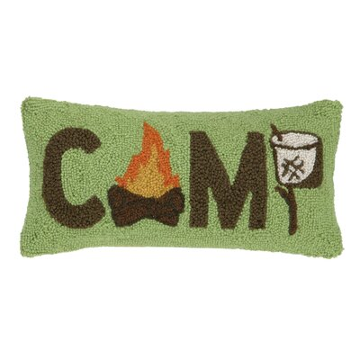 Camp Life Hook Wool Lumbar  Pillow