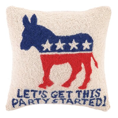 Democrat Party Wool Throw Pillow