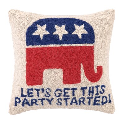 Republican Party Wool Throw Pillow