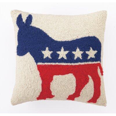 Democrat Logo Wool Throw Pillow