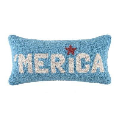 USA Flag Hook Wool Lumbar Finish: Merica