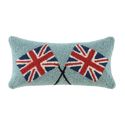Union Jack Hook Wool Lumbar Size: Cross Union Jack