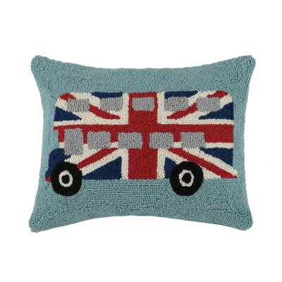 Double Decker Bus Wool Lumbar Pillow