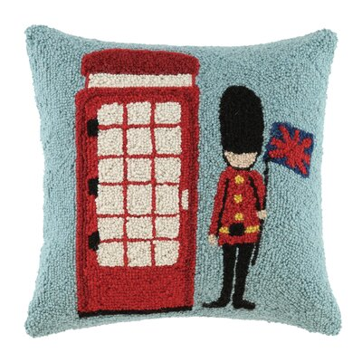 Phone Booth Wool Throw Pillow