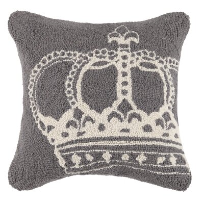 Queen Crown Wool Throw Pillow