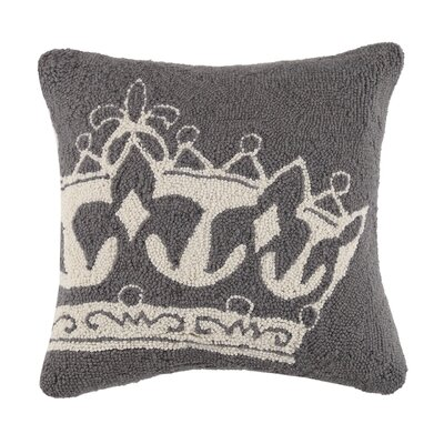 King Crown Wool Throw Pillow