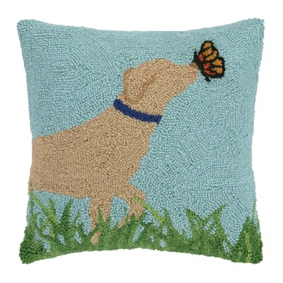 Lab and Butterfly Pillow
