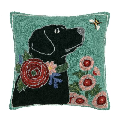 Garden Dog Throw Pillow