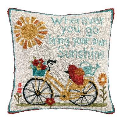 Bike Ride Throw Pillow