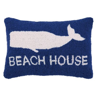 Anchor, Beach and Whale Hook Wool Lumbar Pillow