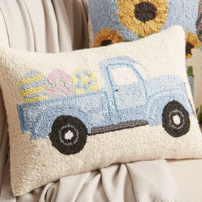 Easter Truck Hook Lumbar Pillow