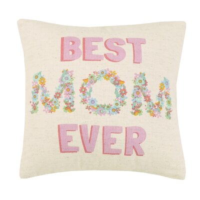 Mothers Day Cotton Throw Pillow
