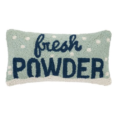 Holiday Fresh Powder Hook 100% Wool Lumbar Pillow