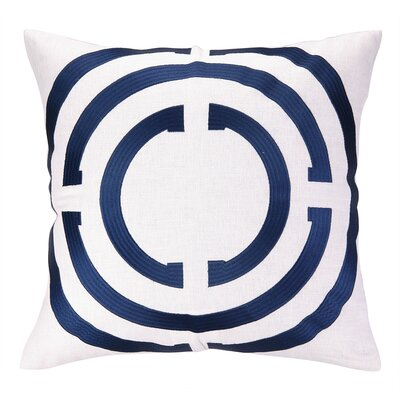 Light Embroidered Linen Throw Pillow