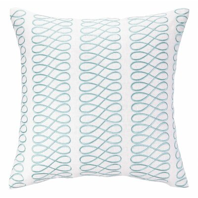 Loop Embroidered Linen Throw Pillow