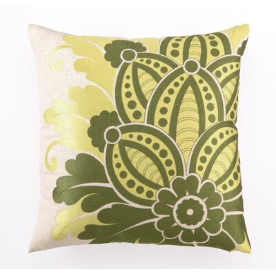 Waikiki Embroidered Linen Throw Pillow