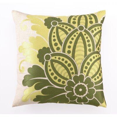 Waikiki Embroidered Linen Throw Pillow
