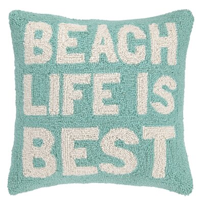Beach Life Hook Wool Throw Pillow