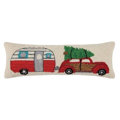 Holiday Hook Wool Lumbar Pillow