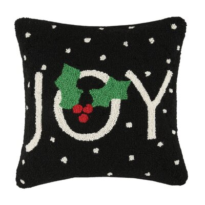 Holiday Hook Wool Throw Pillow