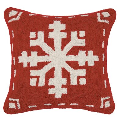 Fair Isle Snowflake Wool Throw Pillow