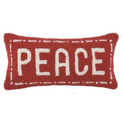 Fair Isle Peace Wool Lumbar Pillow