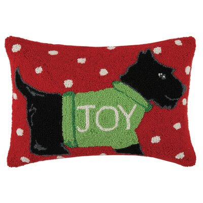 Holiday Dog Hook Cotton Lumbar Pillow