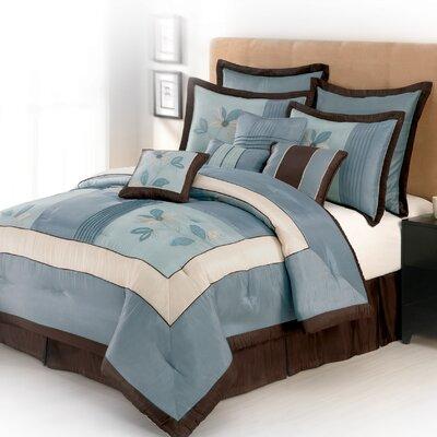 Samantha 10 Piece Comforter Set Size: Queen