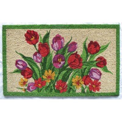 Tulips Coir Doormat