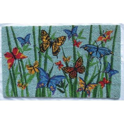 Bamboo Butterflies Coir Doormat