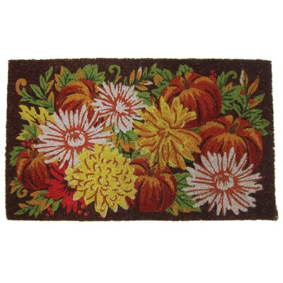 Fall Flowers Coir Doormat