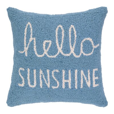 Hello Sunshine Square Hook Wool Throw Pillow