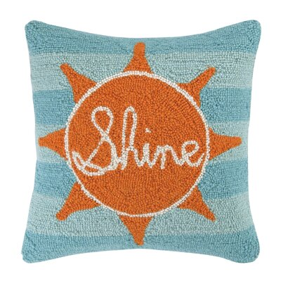 Sun Shine Square Hook Wool Throw Pillow