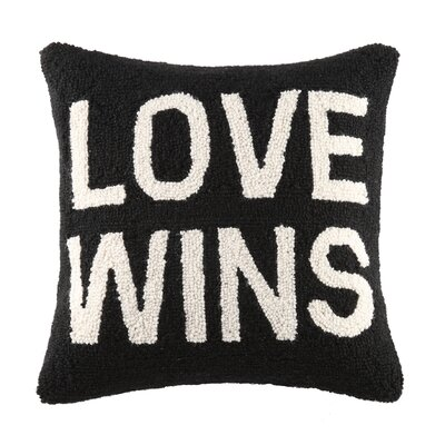 Love Wins Square Hook Wool Throw Pillow
