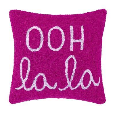Ooh La La Square Hook Wool Throw Pillow