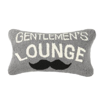 Gentlemens Lounge Hook Wool Lumbar Pillow