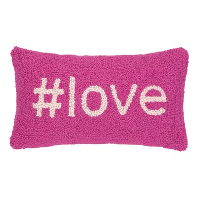 Love Hook Wool Lumbar Pillow
