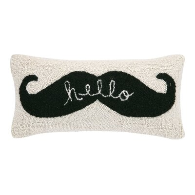 Hello Hook Wool Lumbar Pillow