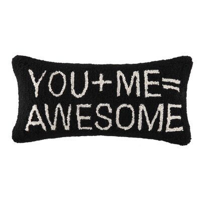 You+Me=Awesome Hook Wool Lumbar Pillow