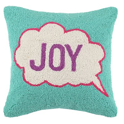 Pop Art Joy Wool Throw Pillow