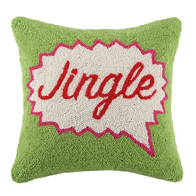 Pop Art Jingle Wool Throw Pillow