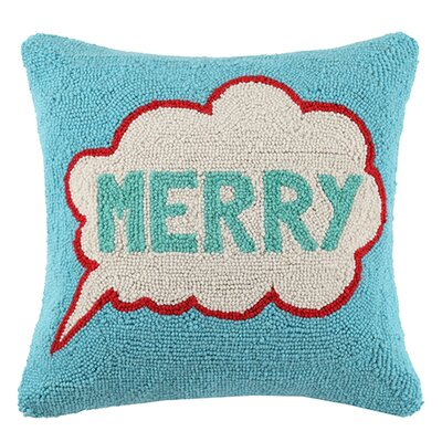 Pop Art Merry Wool Throw Pillow