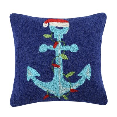 Santa Anchor Wool Throw Pillow