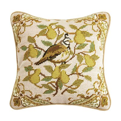Partridge Wool Throw Pillow