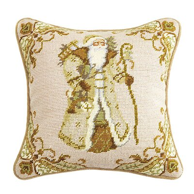 Santa Wool Throw Pillow
