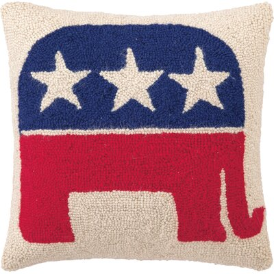 Republican Logo Wool Throw Pillow