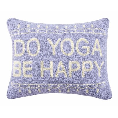 Do Yoga Be Happy Cotton Lumbar Pillow