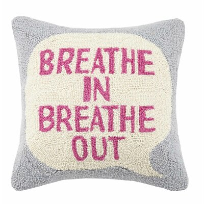 Breathe In Breathe Out Cotton Throw Pillow