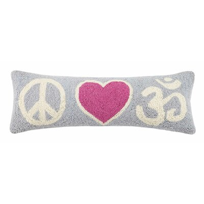Peace Love OHM Cotton Lumbar Pillow